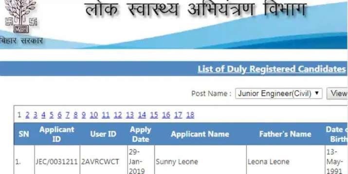 India Tv - Sunny Leone tops Bihar Junior Engineer Exam