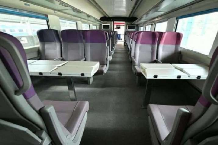 India Tv - Vande Bharat Express has got beautiful interior.