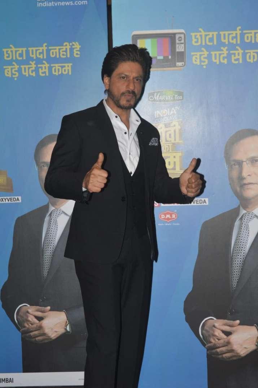 India Tv - Shah Rukh Khan at India TV's mega conclave TV Ka Dum