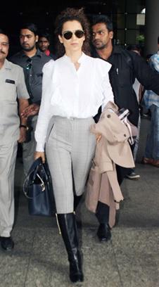 India Tv - Kangana Ranaut airport looks
