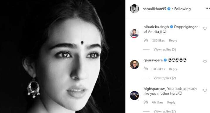 India Tv - Comments on Sara Ali Khan's Instagram picture