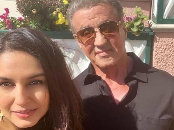 Pics: When Huma Qureshi ran into Hollywood superstar 'Rocky