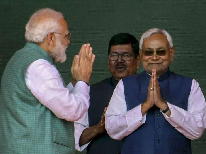 PM Modi, Nitish Kumar share stage at Patna rally