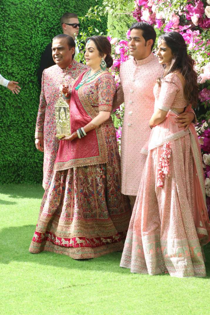 India Tv - Akash Ambani and Shloka Mehta wedding 2019: The Ambani family