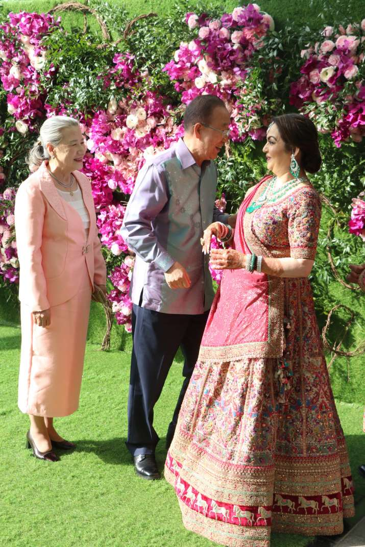 India Tv - Ban-Ki-moon at Akash Ambani and Shloka Mehta's wedding