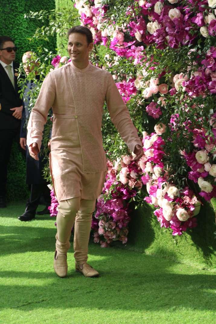 India Tv - Shane Bond at Akash Ambani and Shloka Mehta's wedding