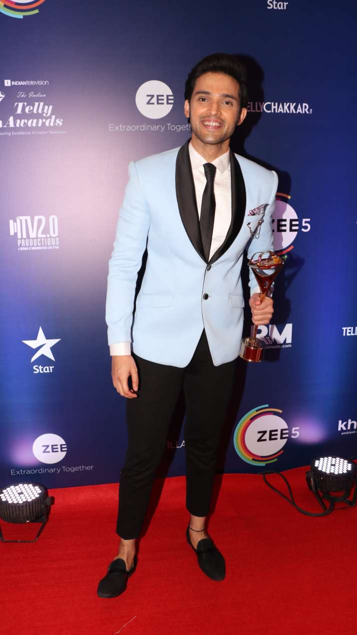 India Tv - Parth Samthaan at Indian Telly Awards 2019