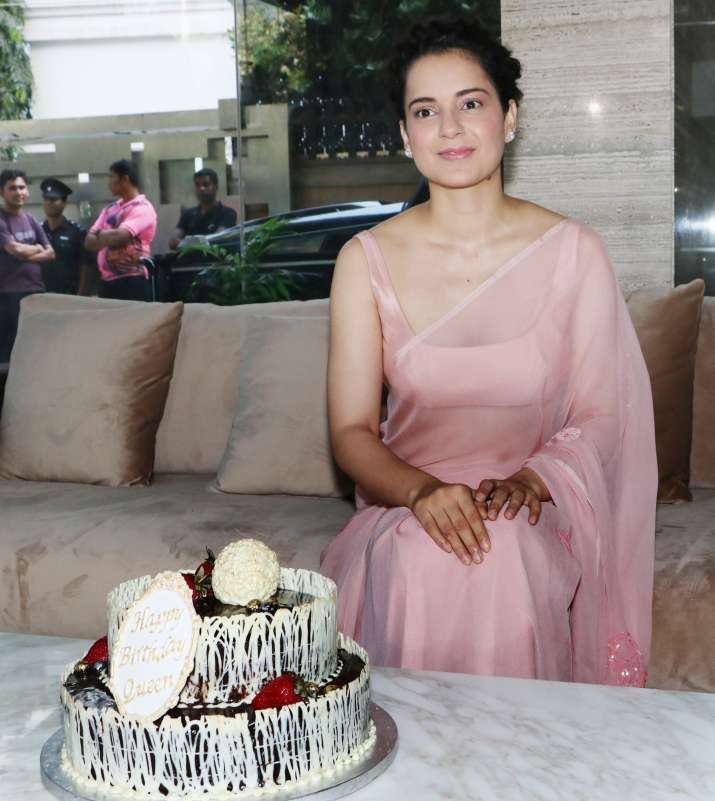 India Tv - Kangana Ranaut birthday celebration