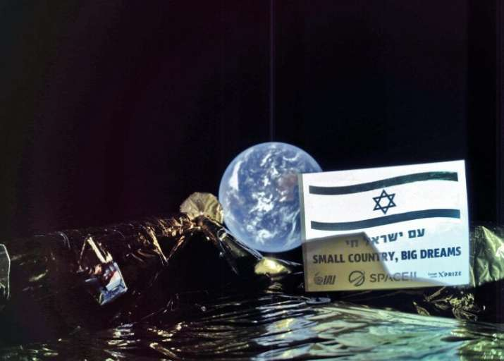 Israel's first Moon mission spacecraft sends selfie back to