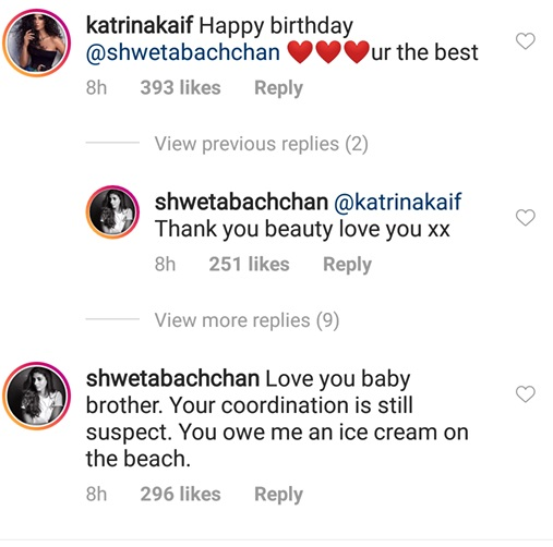India Tv - Shweta Bachchan's comment