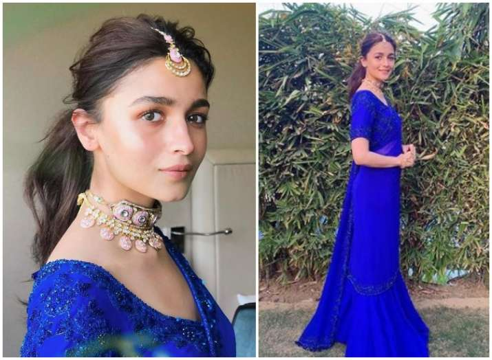 India Tv - PHOTOS: From jumpsuit to lehenga, 5 times Alia Bhatt looked dead drop gorgeous in colour blue