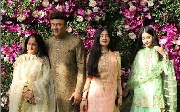 India Tv - Akash Ambani and Shloka Mehta wedding 2019: Anu Malik and family