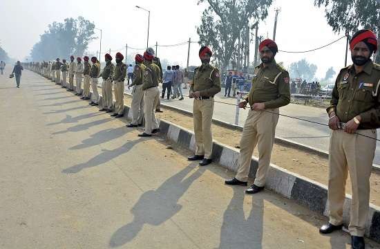 India Tv - Security deployment near Wagah Border