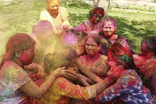 India Tv - Holi celebrations in Allahabad, Uttar Pradesh