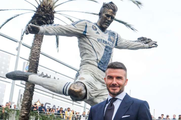 MLS: LA Galaxy unveil statue of David Beckham before 2-1 win over Chicago Fire