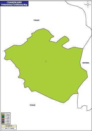 Map of Chandigarh