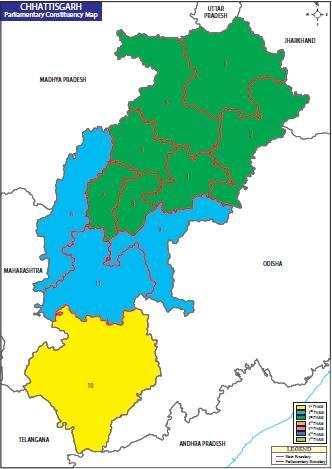 Map of Chhattisgarh