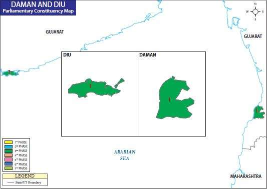 Map of Daman and Diu