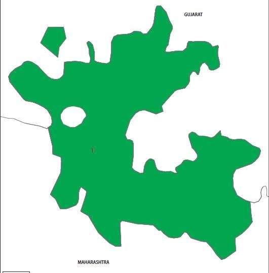 Map of Dadra and Nagar Haveli