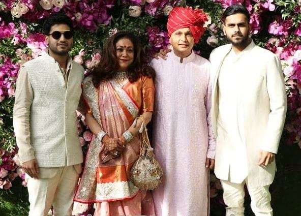 India Tv - Akash Ambani and Shloka Mehta wedding 2019: Anil Ambani and family