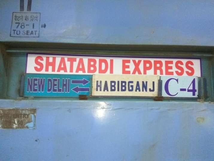 India Tv - New Delhi- Bhopal Shatabdi Express