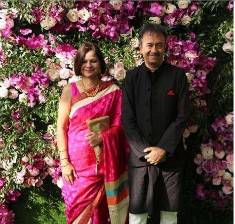 India Tv - Akash Ambani and shloka Mehta wedding 2019: Rajkumar Hirani with wife