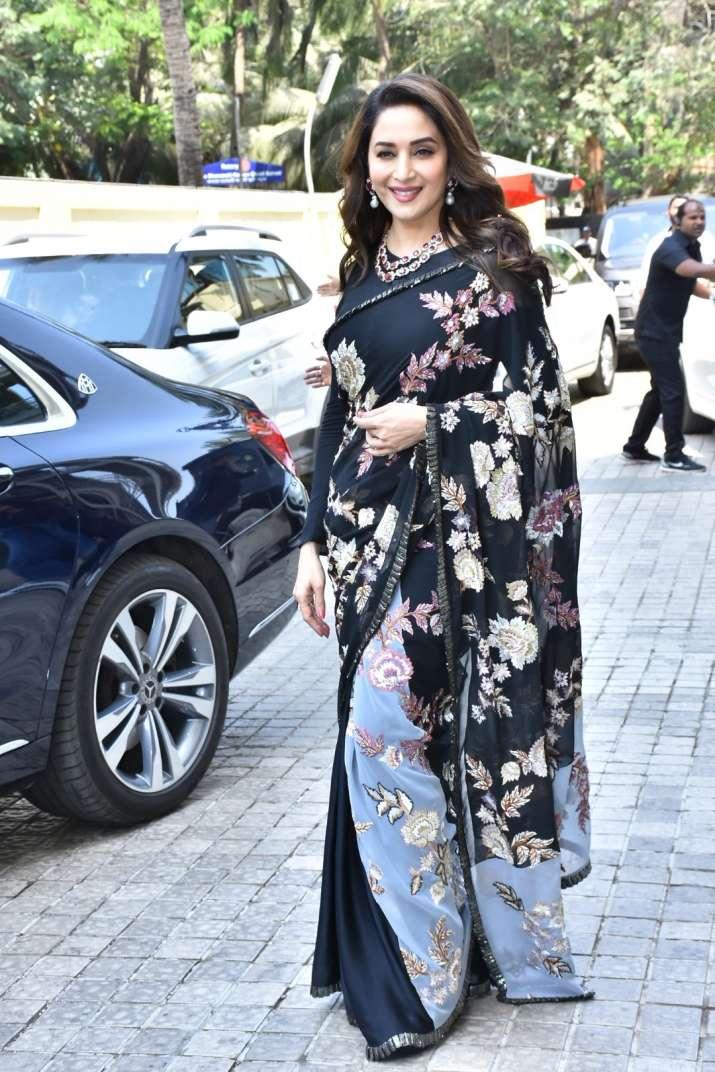 India Tv - Madhuri Dixit at Kalank teaser launch