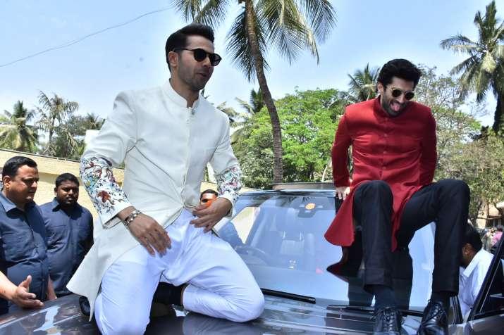 India Tv - VarunDhawan and Aditya Roy Kapur at Kalank teaser launch