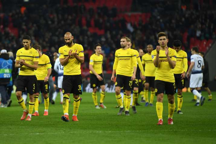 India Tv - Dortmund are 3-0 down against Tottenham and face a herculeantask against Spurs in the second leg.