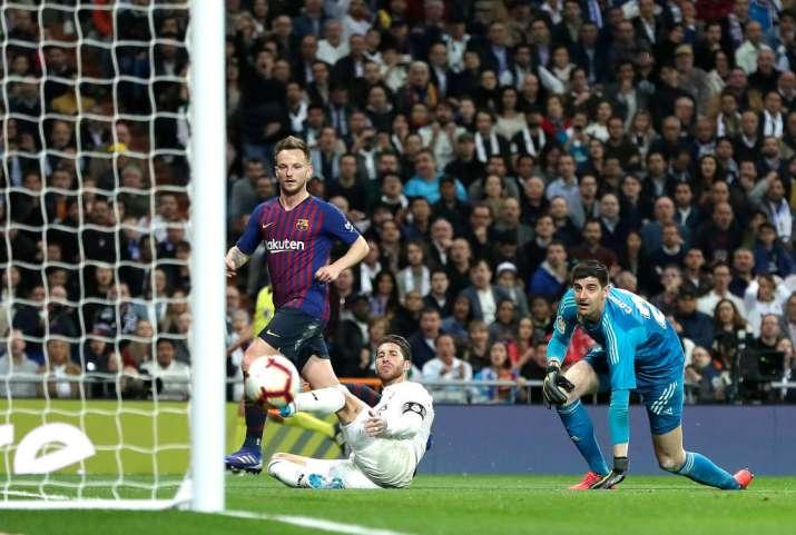 India Tv - Rakitic scored the winning goal for Barcelona