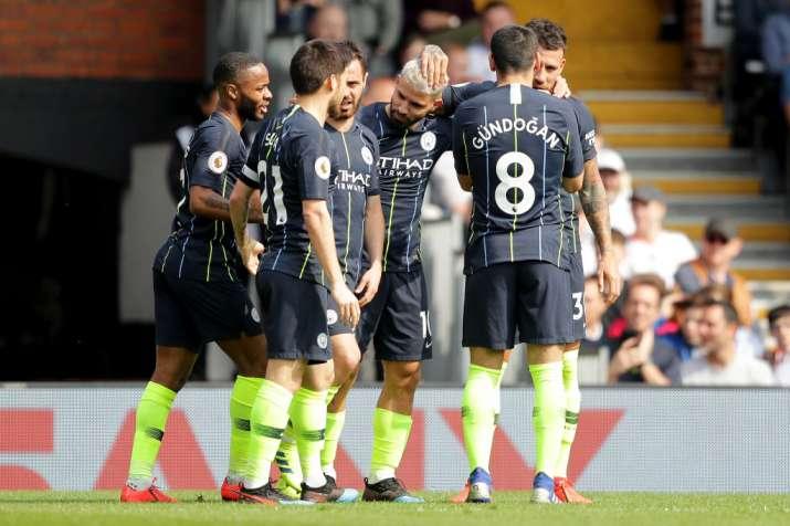 the latest 6e7a4 522c2 Premier League: Manchester City top league after thrashing ...