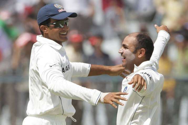 Image result for sourav ganguly with sehwag