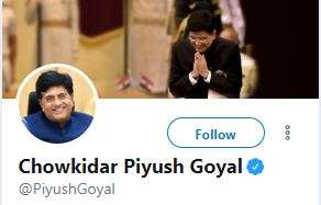 India Tv - Twitter Account of Piyush Goyal