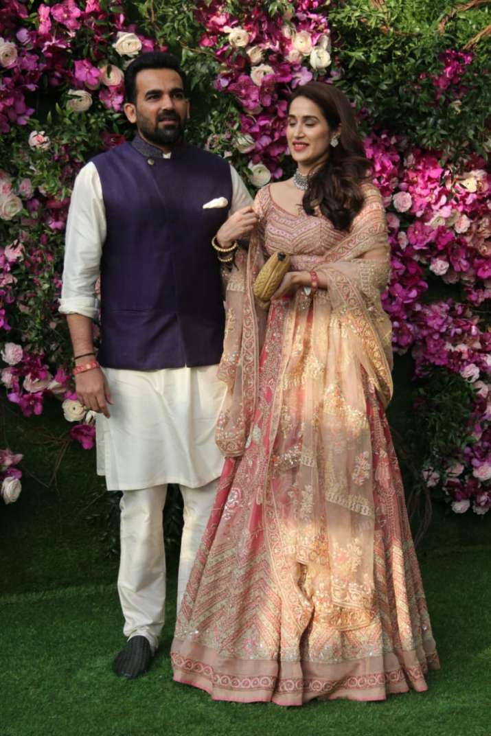 India Tv - Akash Ambani and Shloka Mehta wedding 2019: Zaheer Khan and Sagarika Ghatge