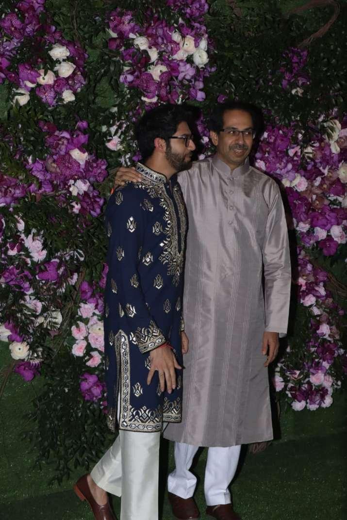 India Tv - Uddhav Thackeray with son