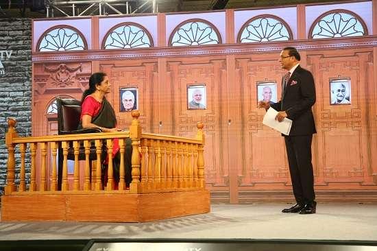 Nirmala Sitharaman in Aap Ki Adalat LIVE: Defence Minister