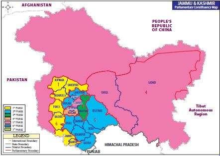 Map of Jammu & Kashmir