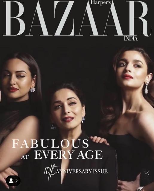 India Tv - Kalank ladies Madhuri Dixit, Alia Bhatt, Sonakshi Sinha