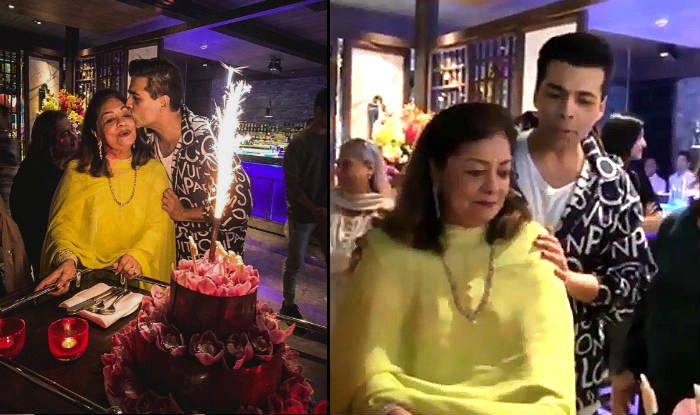 Karan Johar celebrates mother Hiroo Johar's birthday,