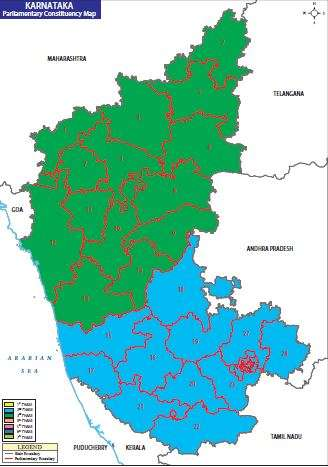 Map of Karnataka