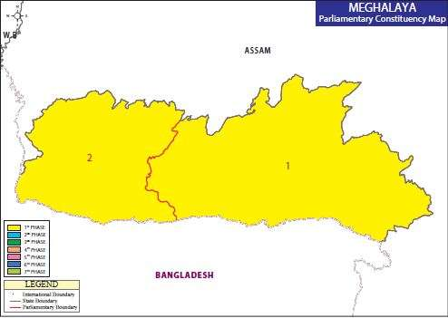 Map of Meghalaya