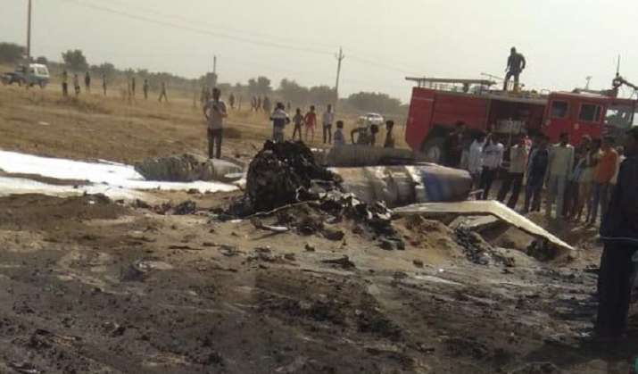 MiG-21 Bison fighter jet crashes near Bikaner, pilot ejects