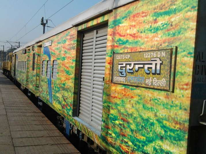 India Tv - New Delhi-Allahabad Duronto Express