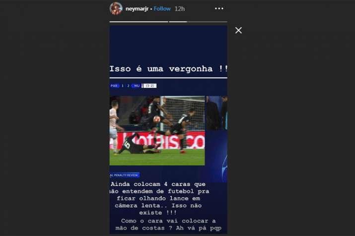 India Tv - Neymar Instagram story
