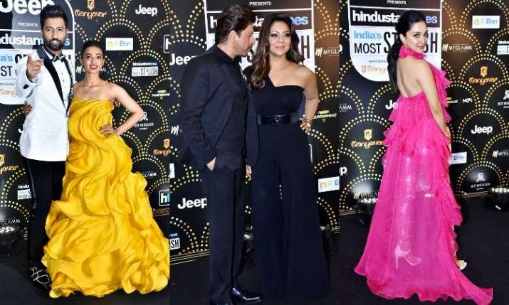 Bollywood celebrities Vicky Kaushal, Radhika Apte, Shah