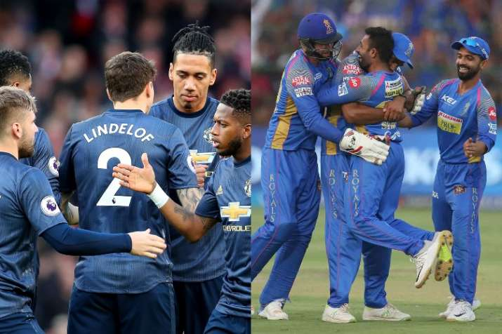 India Tv - Manchester United and Rajasthan Royals