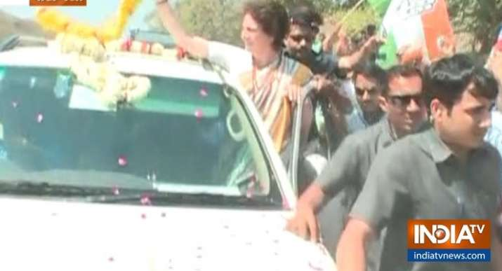 India Tv - Priyanka Gandhi reaches Varanasi