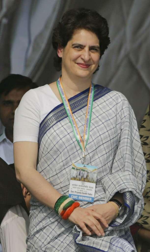 India Tv - Priyanka Gandhi, wearing a saree, was simplicity personified.