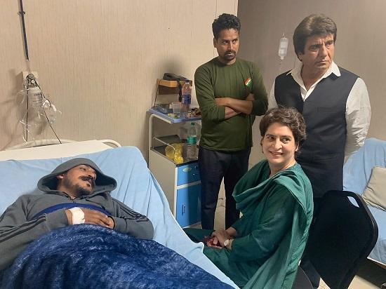 Congress General Secretary Priyanka Gandhi Vadra visits