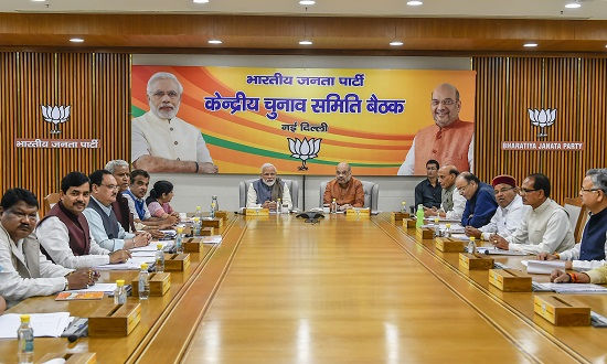 Prime Minister Narendra Modi, BJP National President Amit